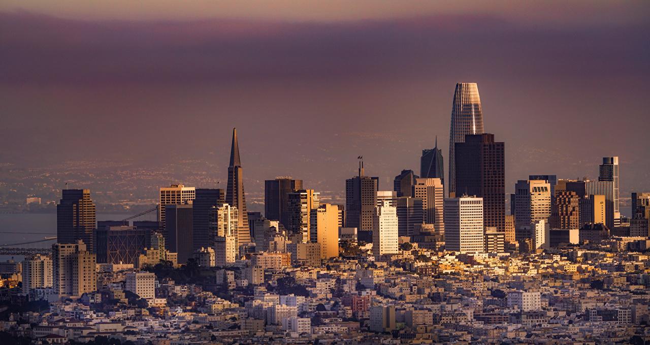 Фотографии калифорнии Сан-Франциско США Дома Города Калифорния штаты америка город Здания