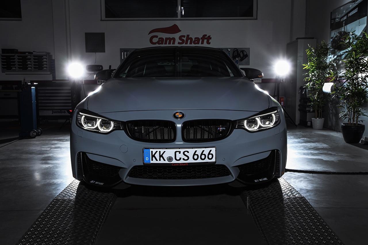 Картинка БМВ F82 Купе Белый Машины Спереди BMW Авто Автомобили