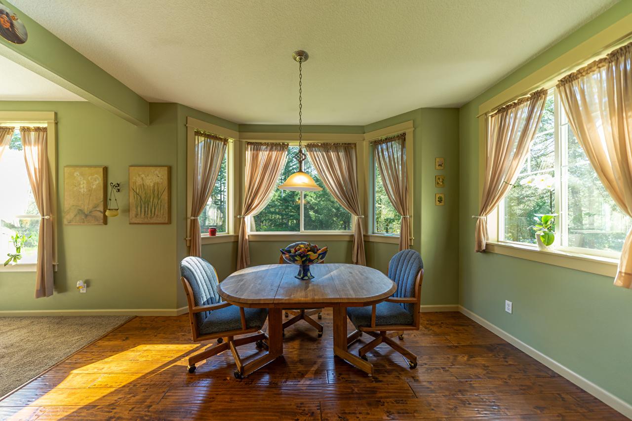 Картинка Гостиная Интерьер Стол лампы Стулья дизайна гостевая ламп стул Лампа столы стола Дизайн