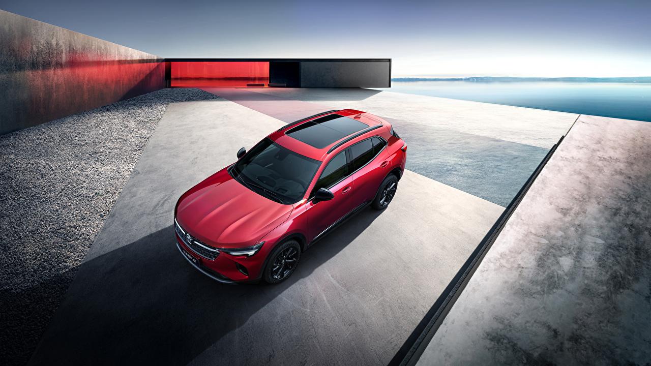 Обои для рабочего стола Buick CUV 2020 Envision S красных Сверху Автомобили Бьюик Кроссовер Красный красные красная авто машина машины автомобиль