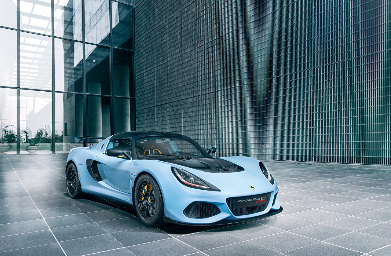 Картинки Lotus 2018-19 Exige Sport 410 Worldwide голубых авто Лотус Голубой голубые голубая машина машины автомобиль Автомобили