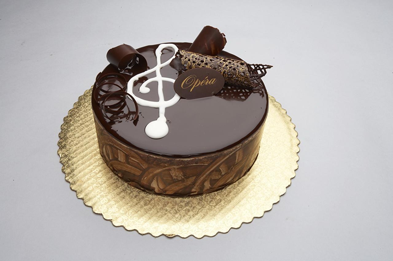 Фотографии Шоколад Торты Пища Сладости Цветной фон Еда Продукты питания