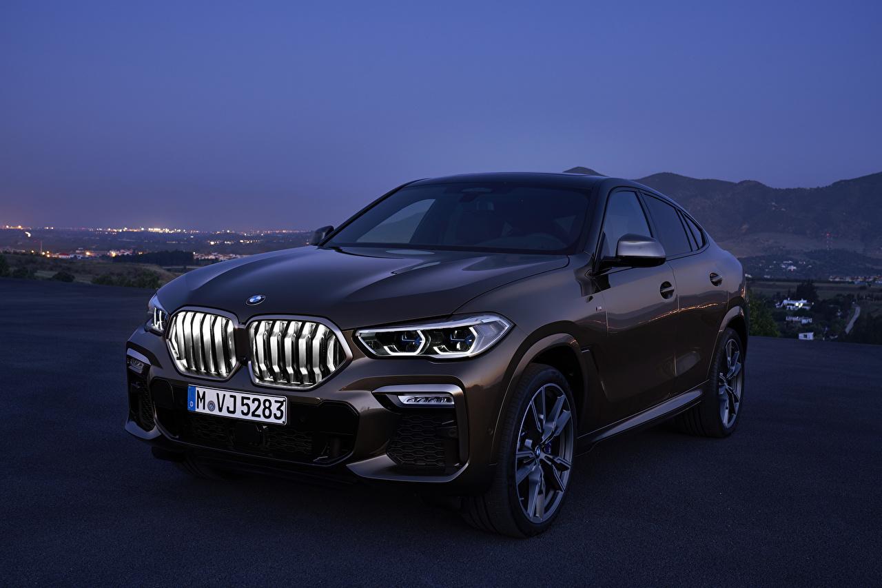Фотографии БМВ 2019 X6 M50i Worldwide Коричневый Автомобили BMW коричневая коричневые авто машина машины автомобиль