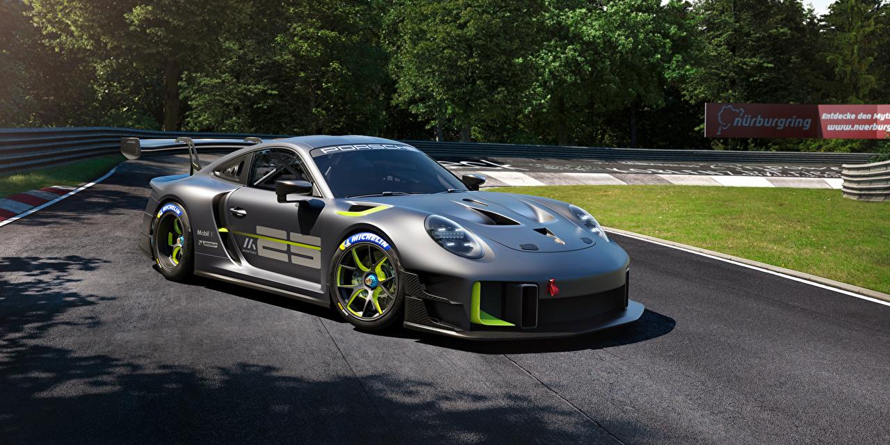 Картинка Porsche 911 GT2 RS Clubsport 25 (991), 2022 серые Автомобили Порше серая Серый авто машины машина автомобиль