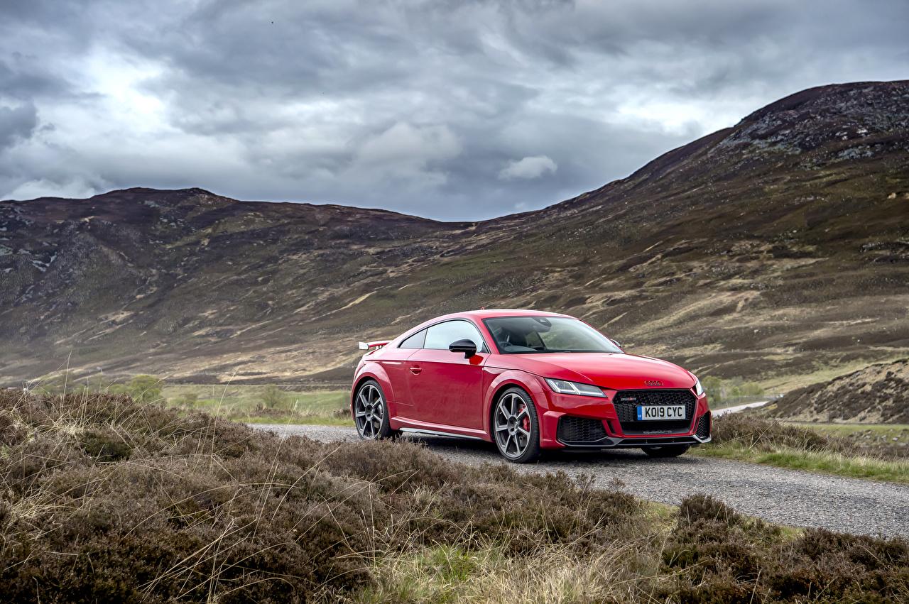Картинки Ауди 2019 TT RS Купе Красный Металлик Автомобили Audi красная красные красных авто машины машина автомобиль