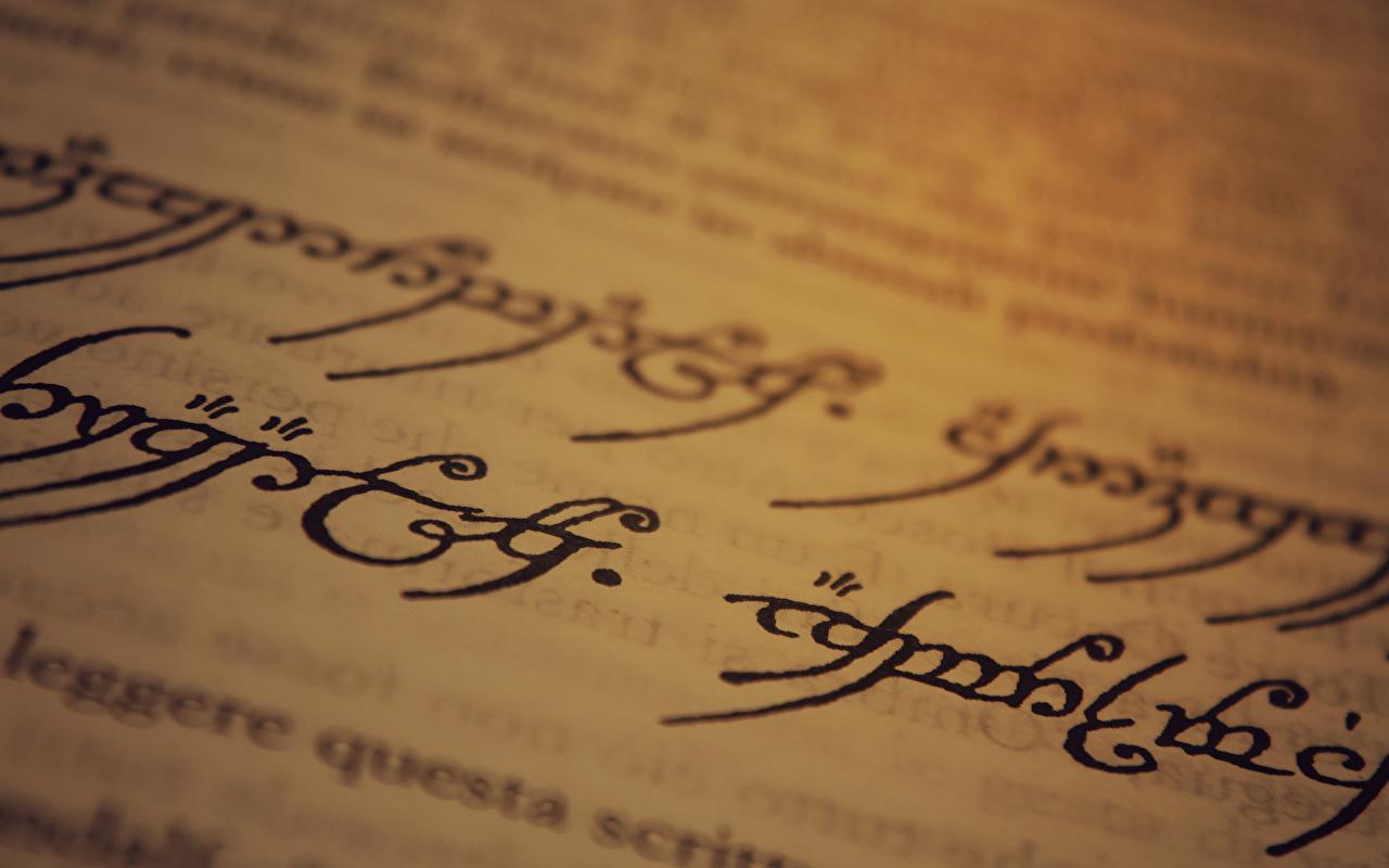 Картинка Властелин колец: Братство кольца страницы paper, Sindarin, J. R. R. Tolkien Фильмы Книга вблизи Страница кино книги Крупным планом