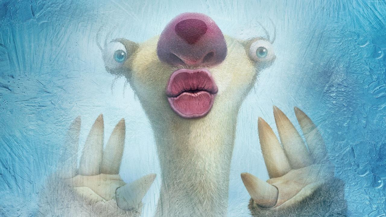Картинки Ледниковый период: Столкновение неизбежно Sid Мультики Крупным планом мультик Мультфильмы вблизи