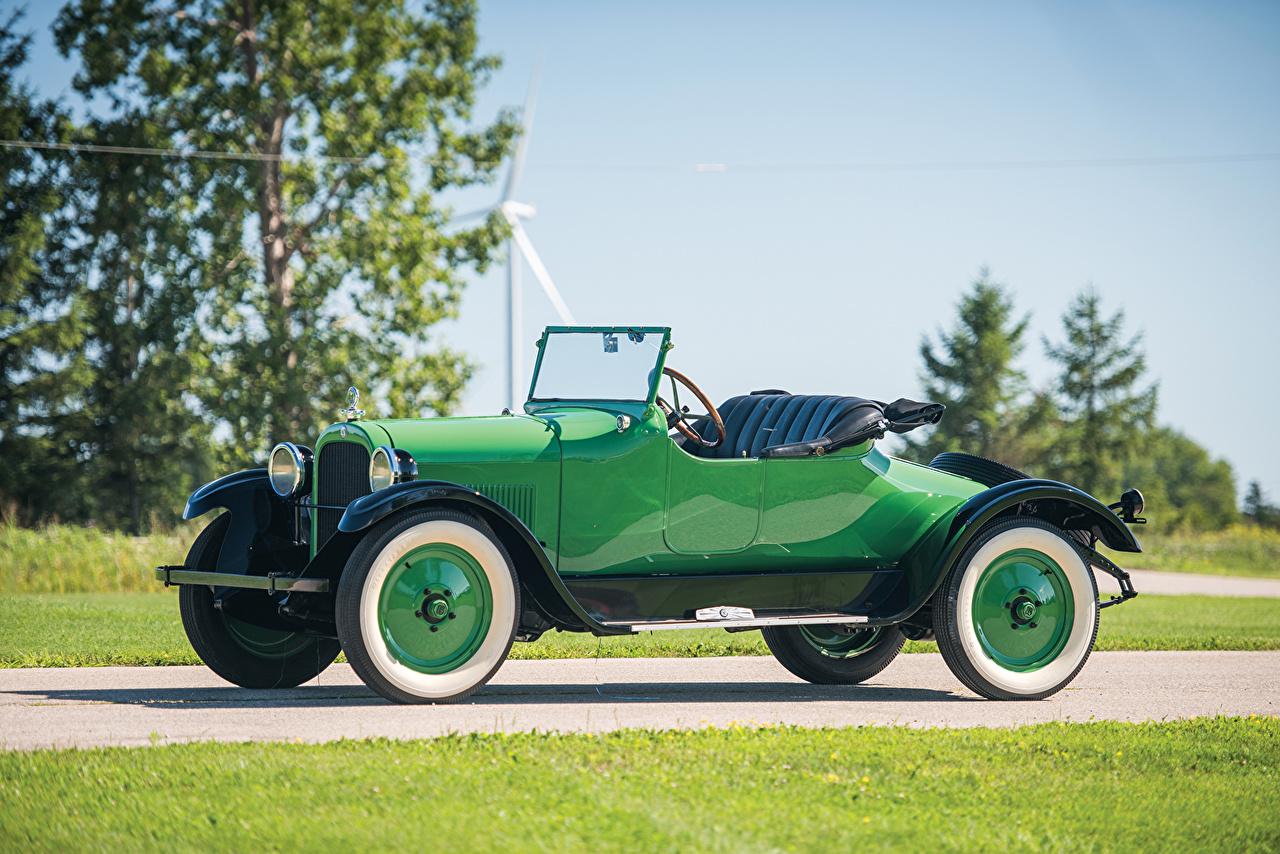 Фотографии Додж 1925 Roadster Родстер кабриолета Винтаж зеленая машина Металлик Dodge Кабриолет Ретро зеленых зеленые Зеленый старинные авто машины автомобиль Автомобили