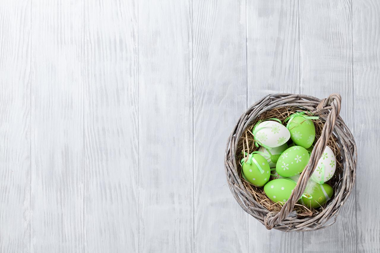 Фото Пасха Яйца Корзина Доски яиц яйцо яйцами корзины Корзинка