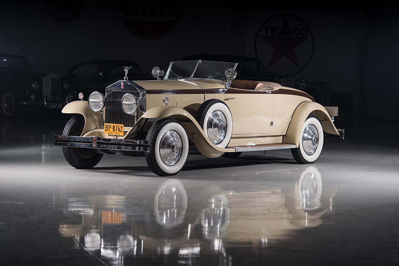 Обои Rolls-Royce 1929 Phantom I Henley Roadster by Brewster Родстер Кабриолет Винтаж Машины Металлик Роллс ройс кабриолета Ретро старинные Авто Автомобили