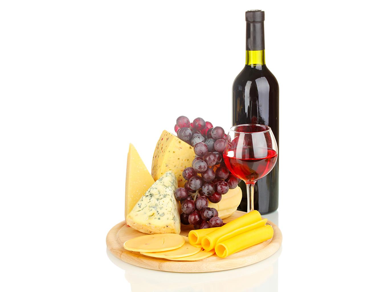 Обои для рабочего стола Вино Сыры Виноград Еда Бокалы бутылки Напитки Пища бокал Бутылка Продукты питания напиток