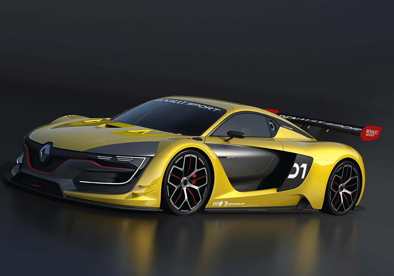 Фотографии Стайлинг 2014 Renault R.S. 01 Желтый машины Рено Тюнинг желтых желтые желтая авто машина автомобиль Автомобили