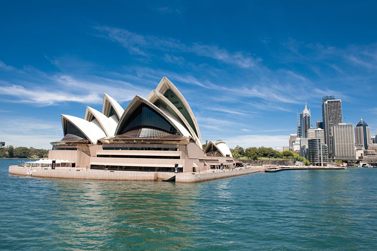 Обои Сидней Австралия Залив Дома Города Дизайн Здания