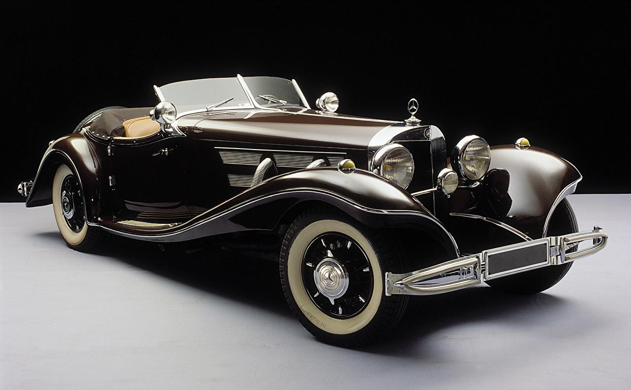 Фото Мерседес бенц 1935-36 500K Roadster Родстер Кабриолет старинные Автомобили Mercedes-Benz Ретро Винтаж Авто Машины