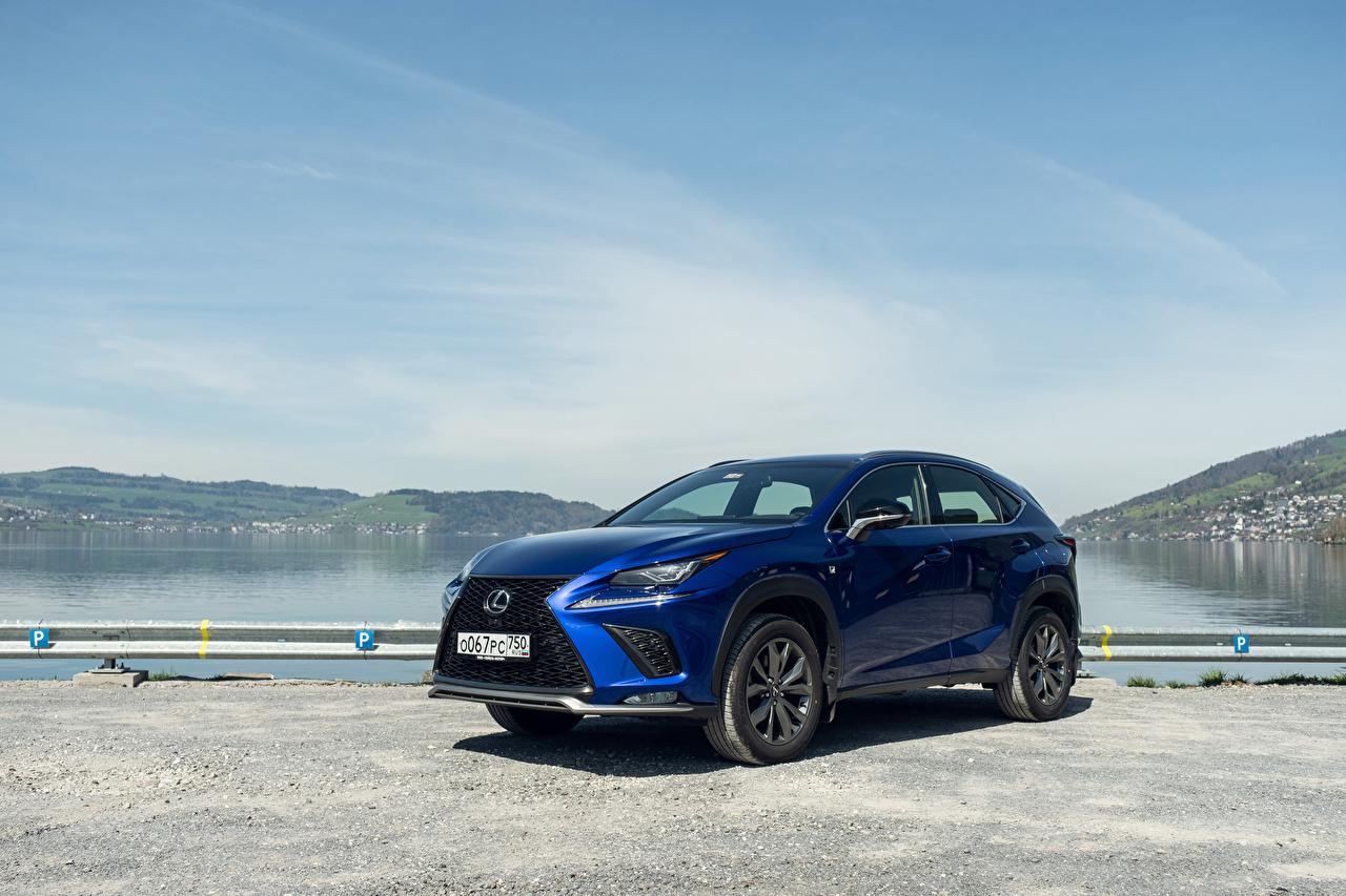 Фото Лексус 2017-18 NX 300 F SPORT Worldwide синих Машины Lexus Синий синие синяя Авто Автомобили