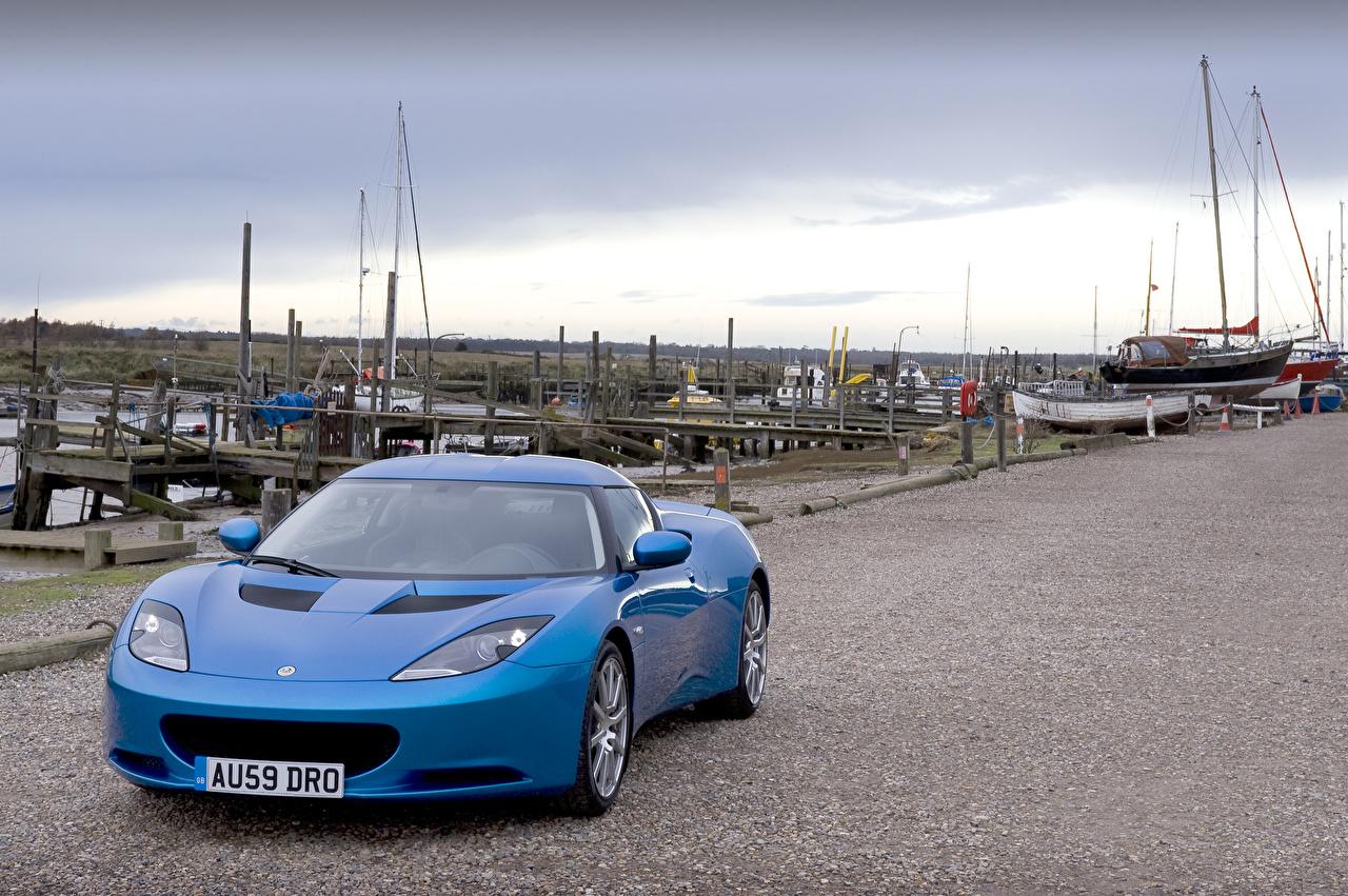 Обои Лотус 2010 Evora голубая Машины Металлик Lotus голубых голубые Голубой Авто Автомобили