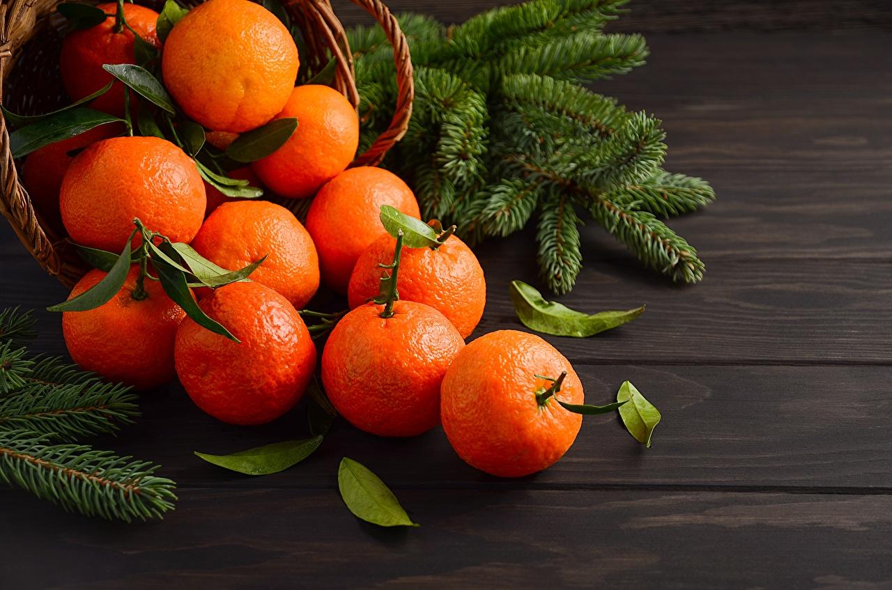 Картинки Новый год Мандарины Еда Рождество Пища Продукты питания
