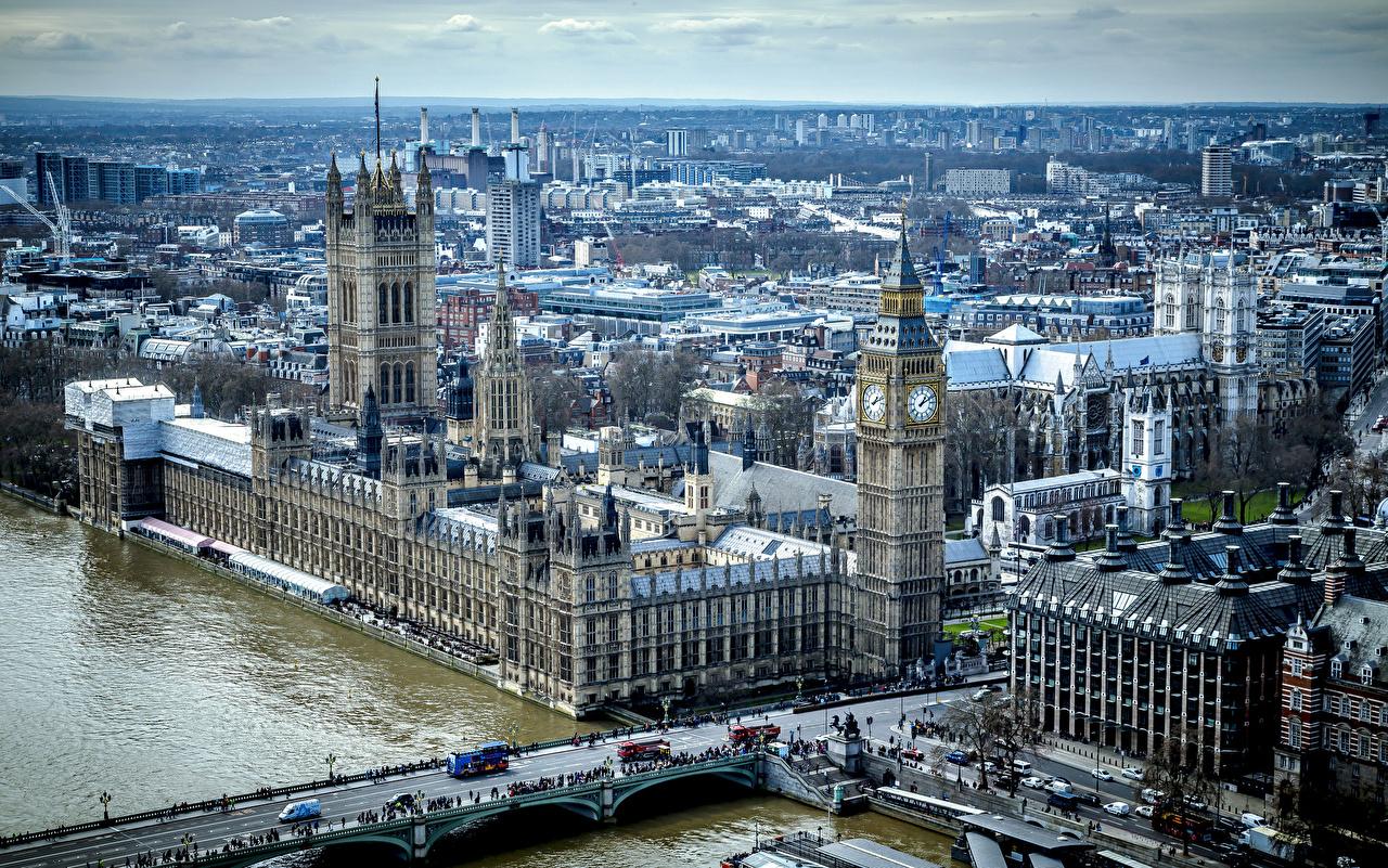 Фотография Лондон Биг-Бен Англия palace of westminster thames HDRI Мосты речка Города лондоне HDR мост река Реки город