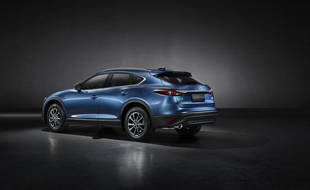Картинка Мазда CUV CX-4, 2019 синих Металлик Автомобили Mazda Кроссовер синяя синие Синий авто машины машина автомобиль