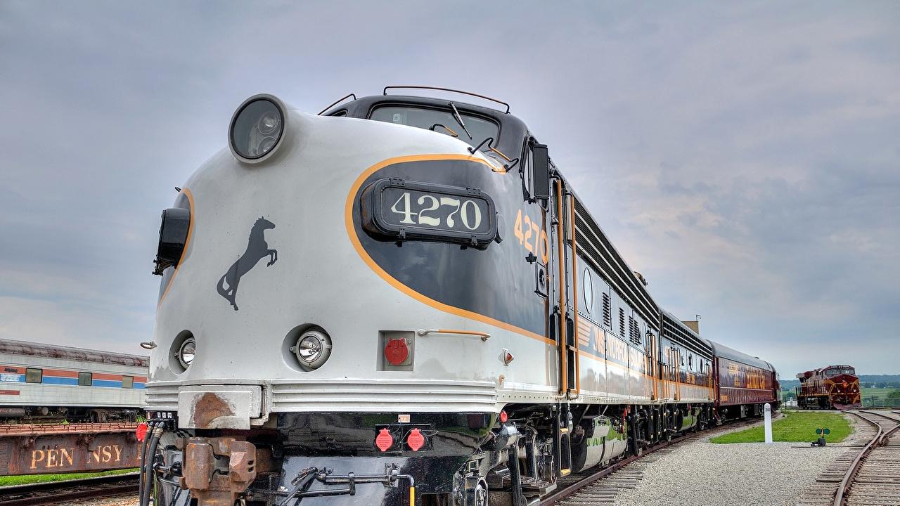 Картинки Локомотив Поезда Железные дороги
