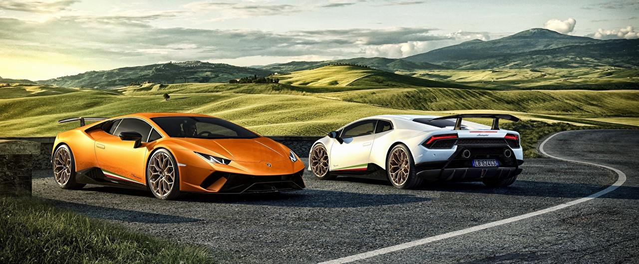 Обои Lamborghini Huracan 2 3D Графика Автомобили Ламборгини Двое вдвоем Авто Машины