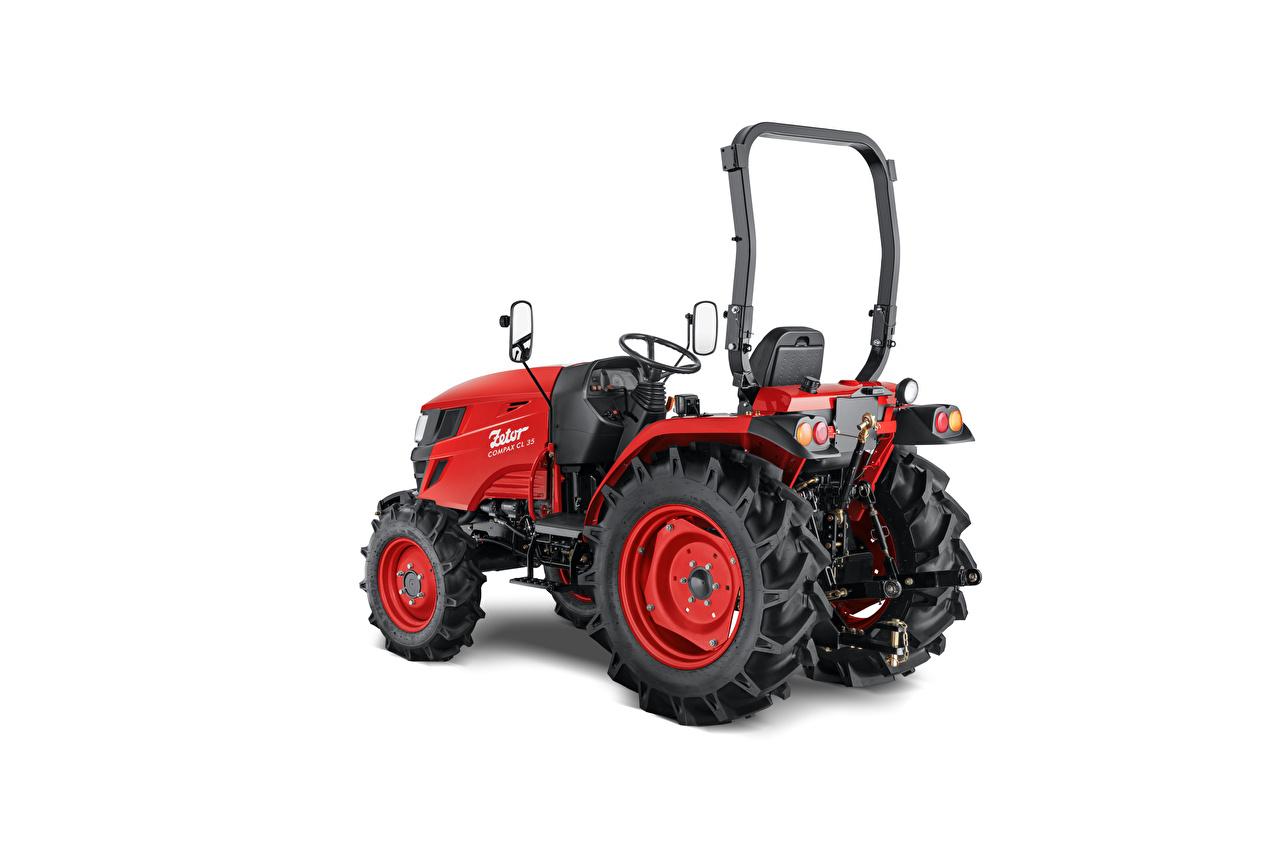 Фотографии Трактор Zetor Compax CL 35, 2020 Красный белом фоне трактора тракторы красных красные красная Белый фон белым фоном