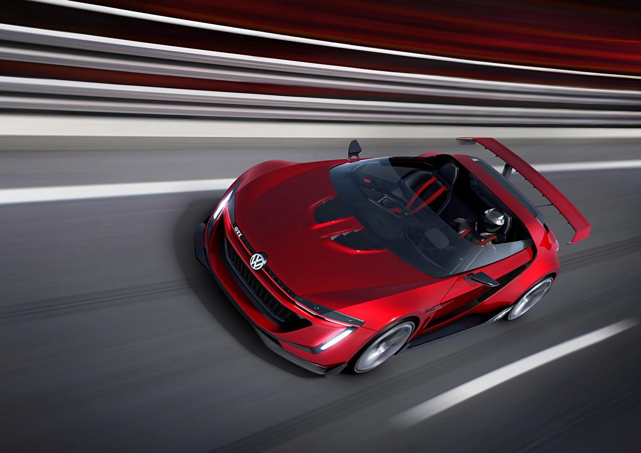 Фото Фольксваген 2014 GTI roadster Родстер Кабриолет красные авто Volkswagen кабриолета красных Красный красная машина машины автомобиль Автомобили