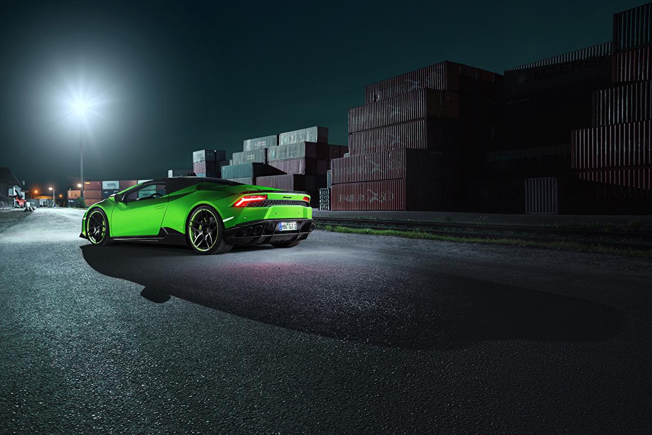Картинка Lamborghini Huracan Spyder Novitec Torado Зеленый машина Ламборгини зеленых зеленые зеленая авто машины автомобиль Автомобили