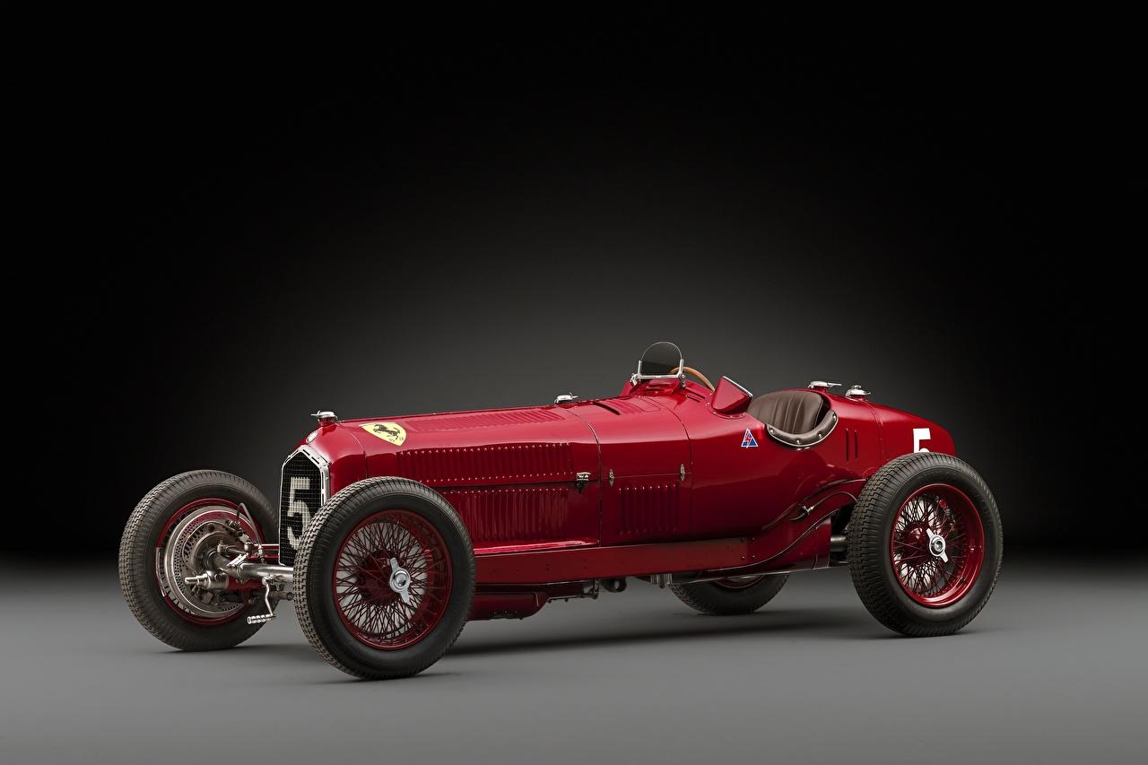 Обои Alfa Romeo 1932 Tipo B P3 Ретро Красный Авто Альфа ромео Винтаж старинные Машины Автомобили