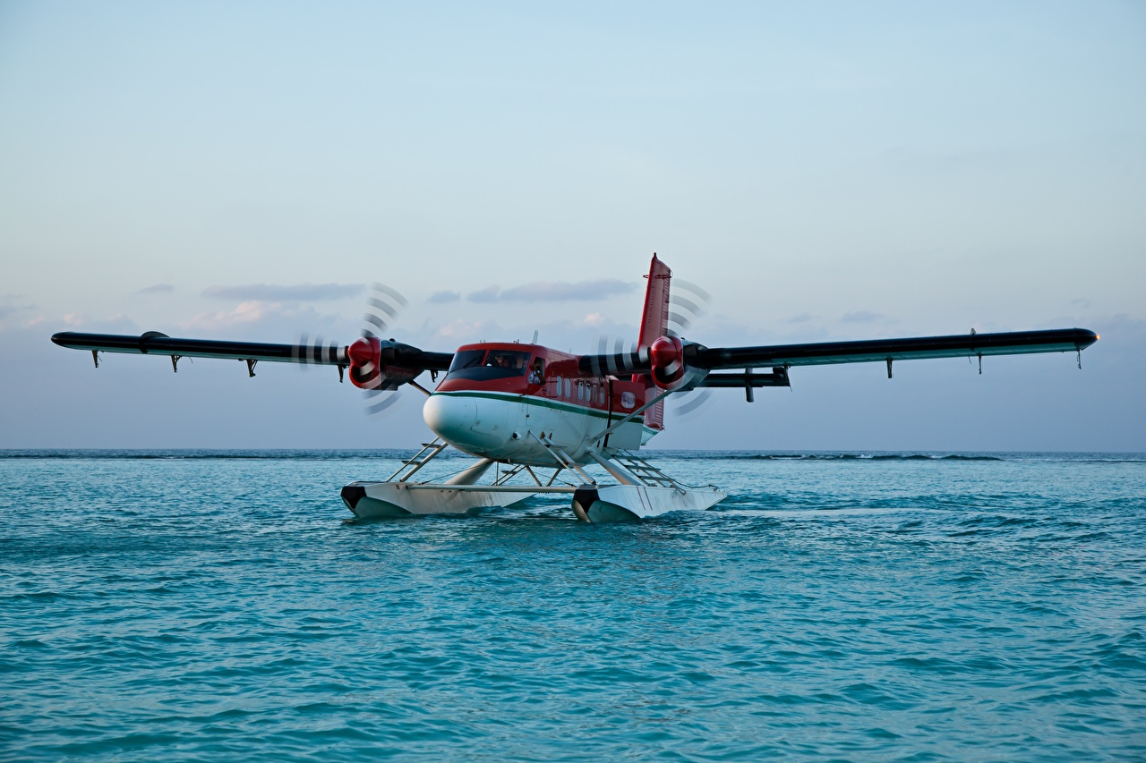Фото Самолеты гидроплан Вода Авиация Гидросамолёт