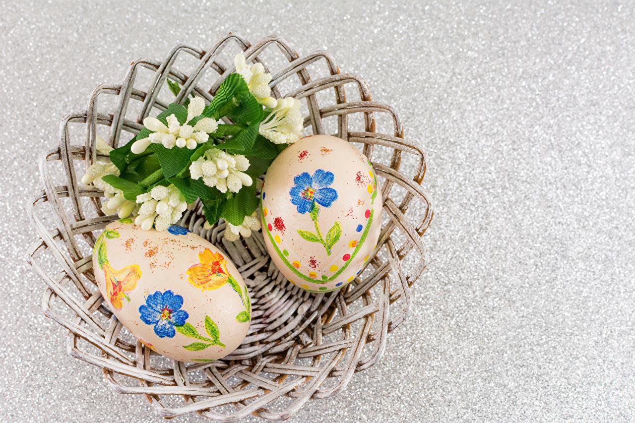 Фотографии Пасха Яйца вдвоем Дизайн 2 Двое