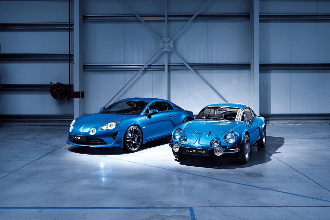 Фото Renault 2017 Alpine A110 Premiere Edition два Голубой машина Рено 2 две Двое вдвоем голубая голубые голубых авто машины Автомобили автомобиль