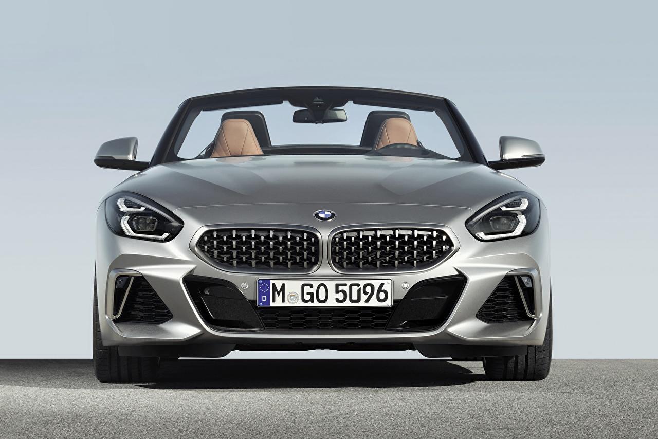 Обои BMW Z4 M40i Z4 2019 G29 Родстер Серебристый Машины Спереди БМВ Авто Автомобили