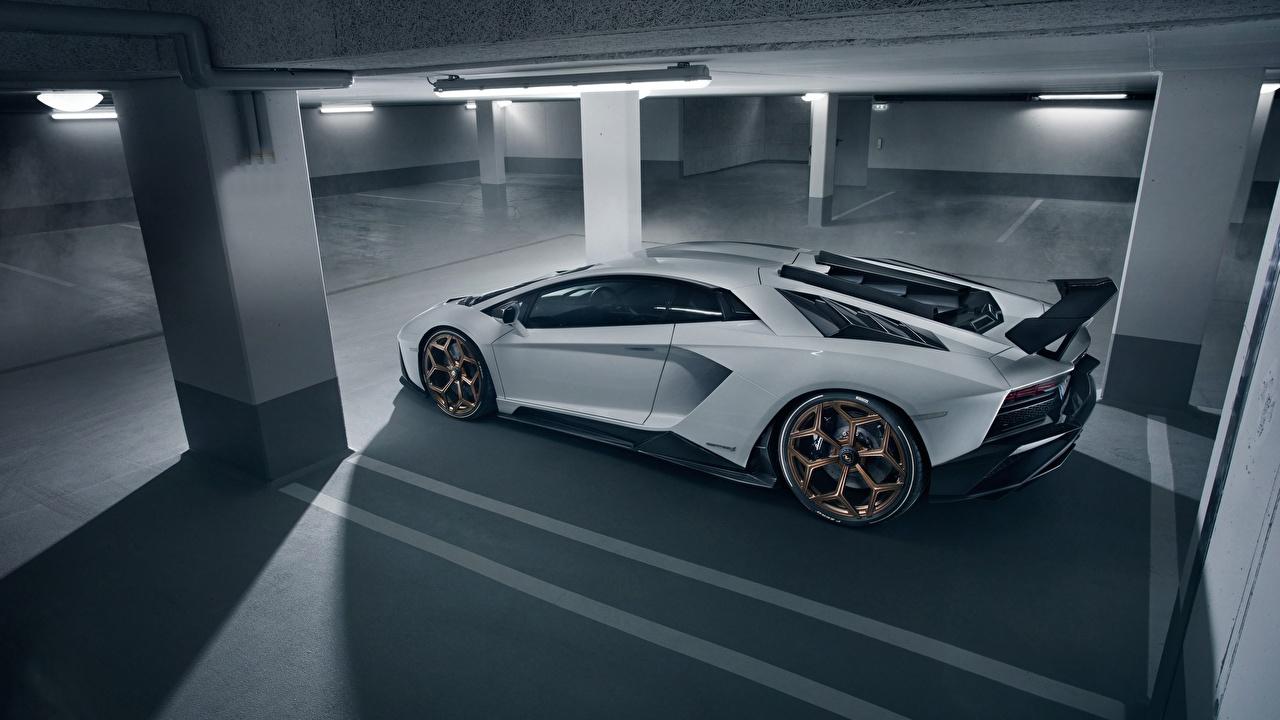 Картинка Ламборгини 2018 Novitec Torado Aventador S Белый Автомобили Lamborghini Авто Машины