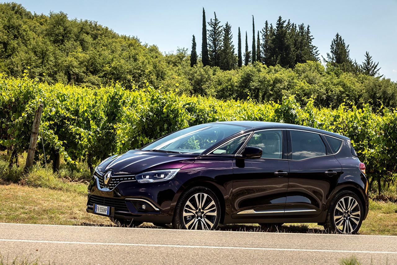 Фотография Renault 2017-18 Scenic Initiale Paris Worldwide Фиолетовый Металлик Автомобили Рено Авто Машины