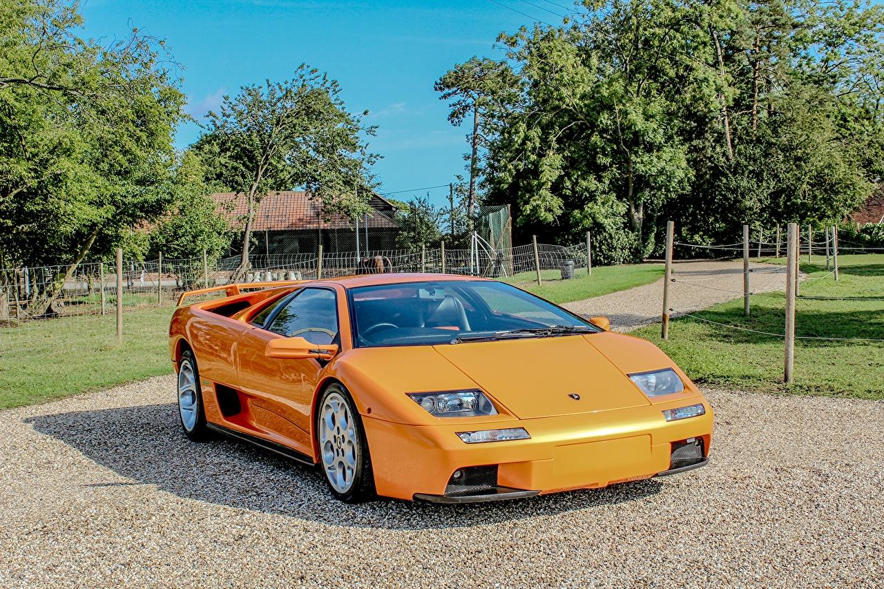 Фото Ламборгини Diablo VT 6.0 Оранжевый машины Lamborghini оранжевых оранжевые оранжевая авто машина автомобиль Автомобили
