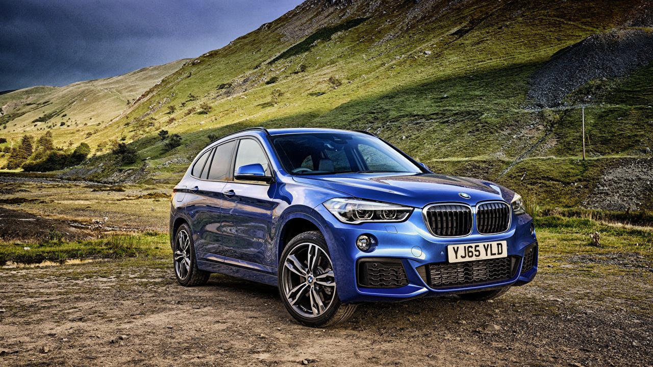 Фотография БМВ xDrive 2015 F48 X1 M Синий Металлик Автомобили BMW синяя синие синих авто машины машина автомобиль