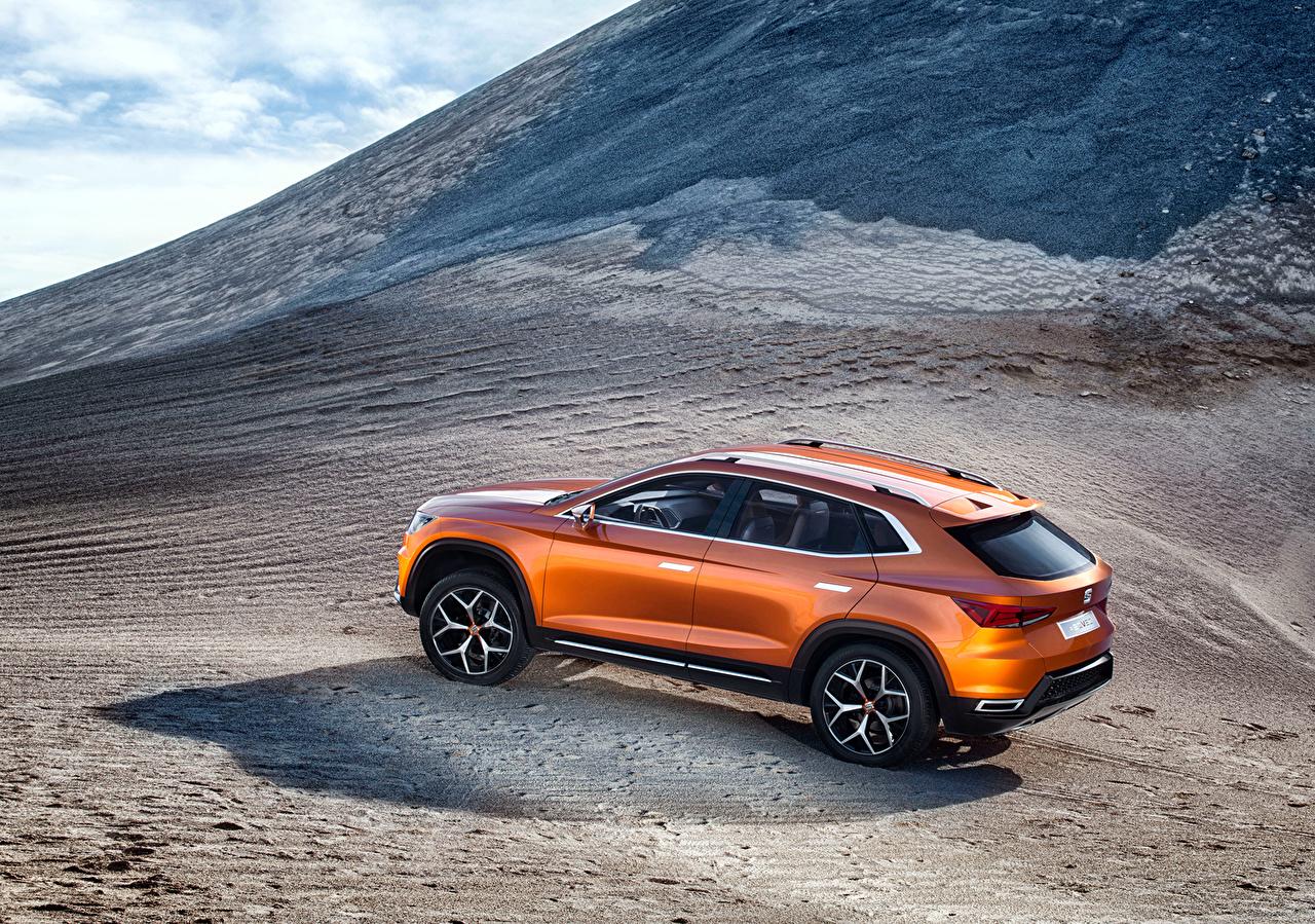 Фотография Сиат 2015 Concept 20V20 Горы Оранжевый Сбоку автомобиль Seat гора оранжевых оранжевая оранжевые авто машина машины Автомобили