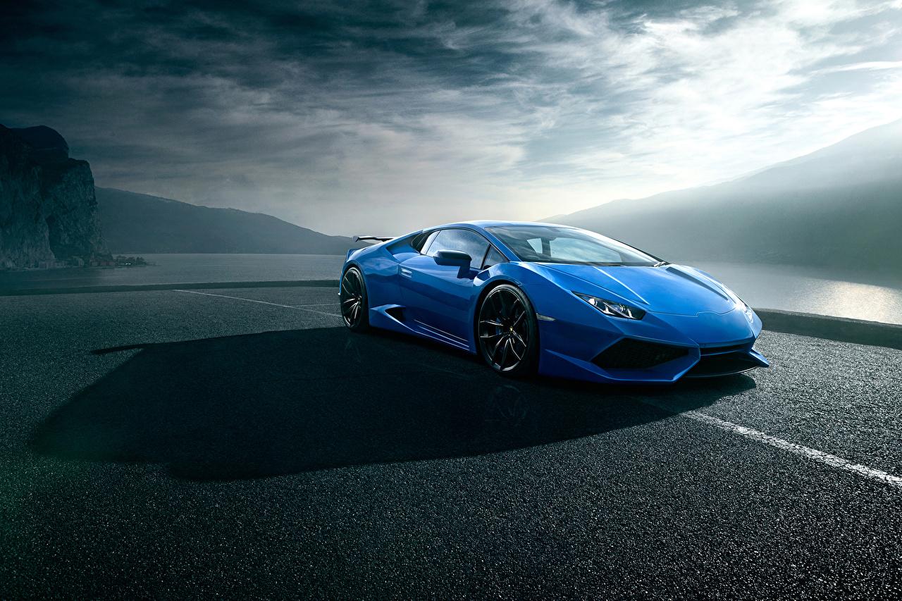 Картинки Lamborghini Novitec Torado, Huracan Роскошные синяя машина Ламборгини дорогие дорогой дорогая люксовые роскошная роскошный синих синие Синий авто машины автомобиль Автомобили