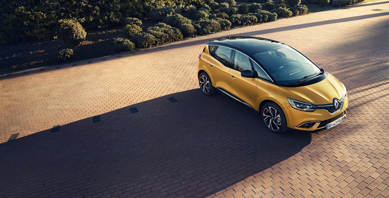 Картинки Renault 2016-18 Scenic Желтый Автомобили Рено желтых желтые желтая авто машина машины автомобиль