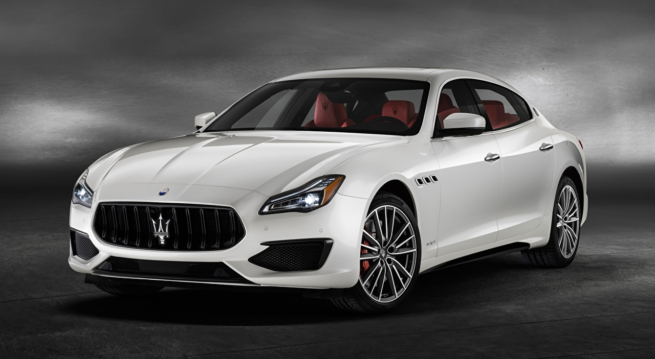 Картинки Maserati Quattroporte GTS, GranSport, US-spec, 2018, Luxury Седан Белый машины Мазерати белая белые белых авто машина Автомобили автомобиль