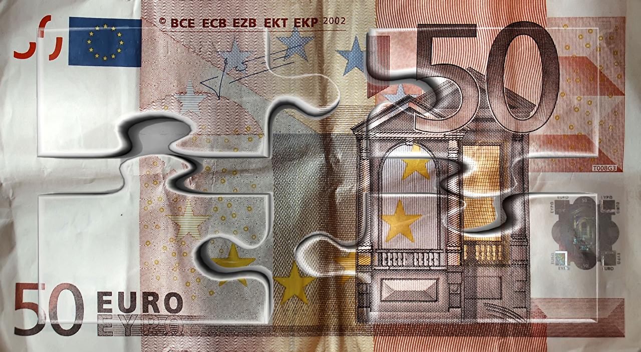 Обои Евро Банкноты 50 Деньги Купюры