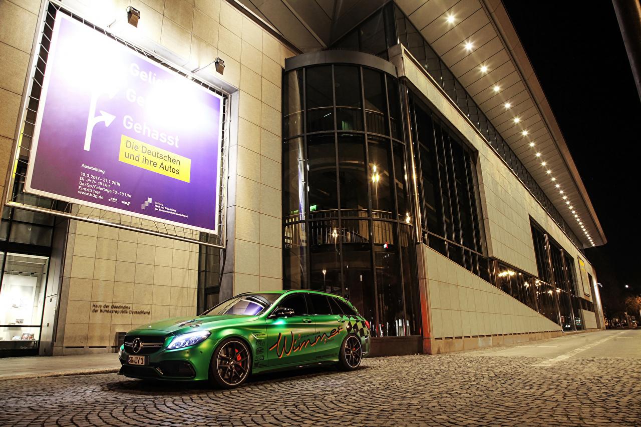 Картинка Mercedes-Benz Стайлинг 2017 Wimmer RS AMG C 63 S Estate  RST Салатовый машина Тюнинг Мерседес бенц салатовая салатовые желто зеленый авто машины автомобиль Автомобили