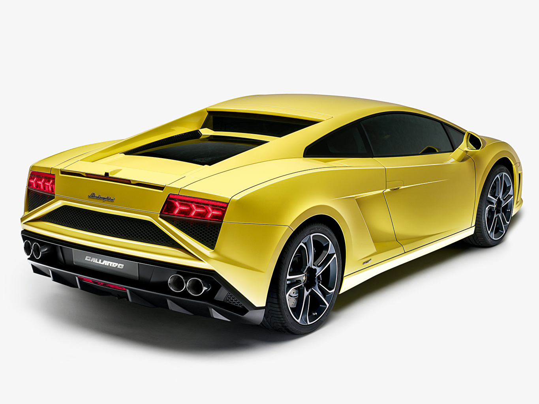 Фото Lamborghini Gallardo LP560-4 2013 Роскошные желтые фар авто вид сзади Ламборгини дорогие дорогой дорогая люксовые роскошная роскошный желтых Желтый желтая Фары Сзади машина машины автомобиль Автомобили