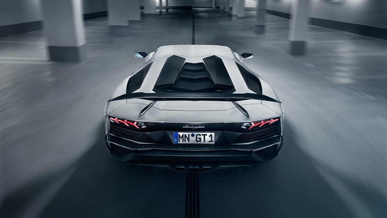 Фото Lamborghini Aventador S Novitec Torado 2018 Белый Сзади