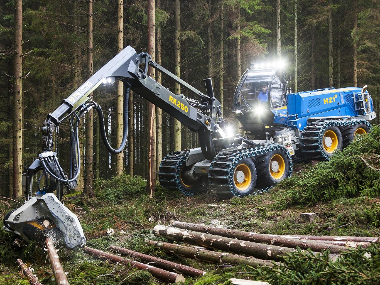 Обои для рабочего стола Форвардер 2013-18 Rottne H21D Бревна лес бревно Леса