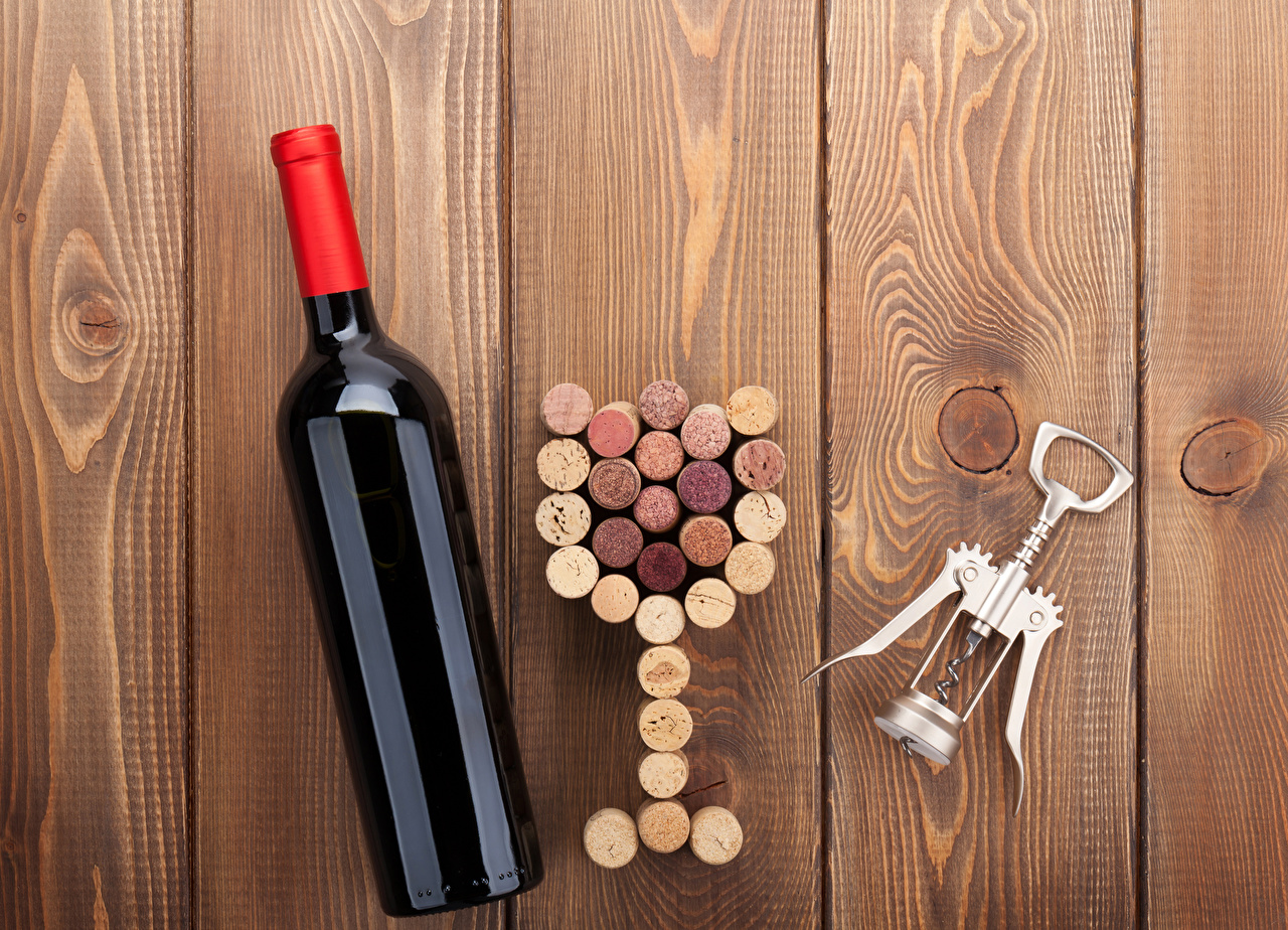 Картинка Вино Пища Бутылка Доски Еда бутылки Продукты питания