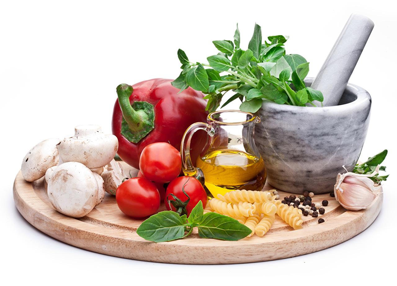 Картинка Помидоры Чеснок кувшины Еда Овощи Перец Томаты Кувшин Пища перец овощной Продукты питания