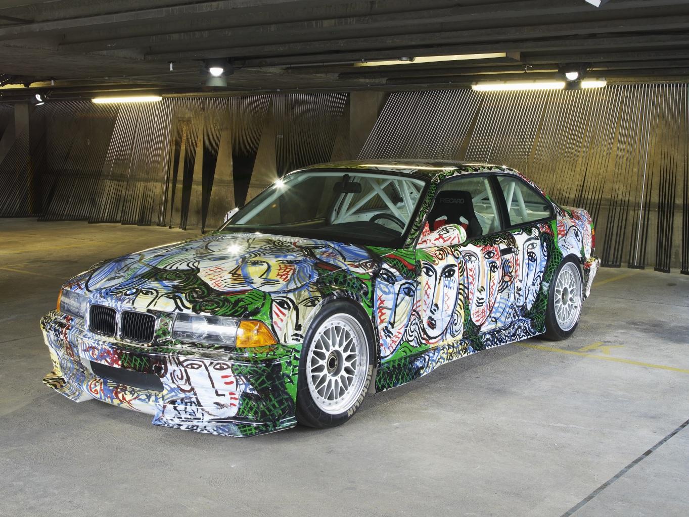 Обои для рабочего стола BMW Стайлинг 1992 3 Series Coupe Art Car by Sandro Chia Автомобили БМВ Тюнинг авто машина машины автомобиль