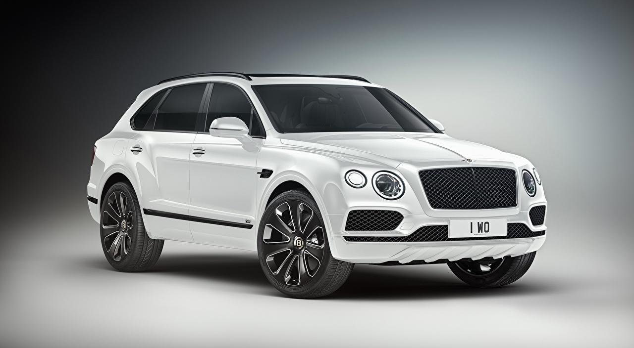 Картинки Bentley CUV Bentayga V8 Design Series, 2019 дорогие белая машины Металлик сером фоне Бентли Кроссовер дорогая дорогой люксовые Роскошные роскошный роскошная Белый белые белых авто машина Автомобили автомобиль Серый фон